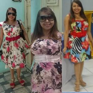 moda verão vestido florido