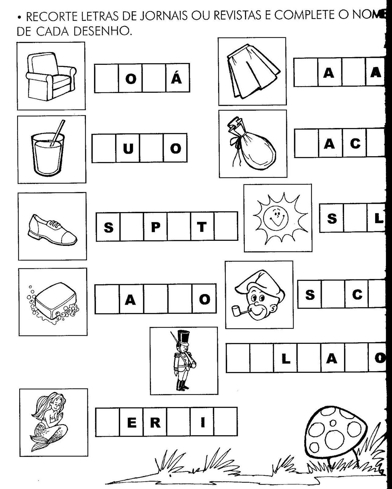 Suficiente Atividades para desenvolver habilidades alfabéticas nas crianças  HI19