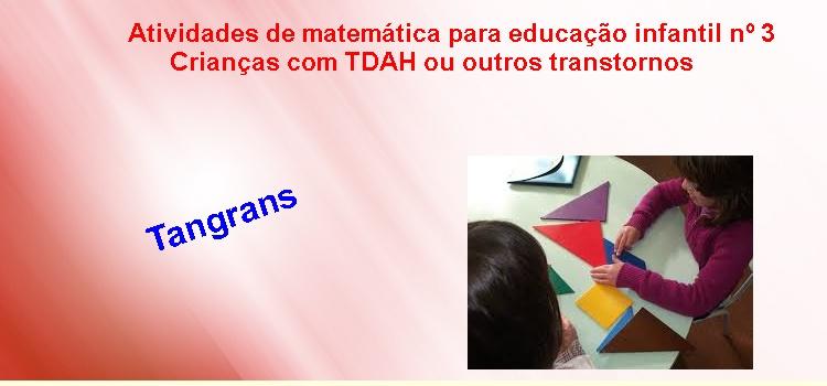 Atividades de matemática para educação infantil nº 3 – Crianças com TDAH ou outros transtornos